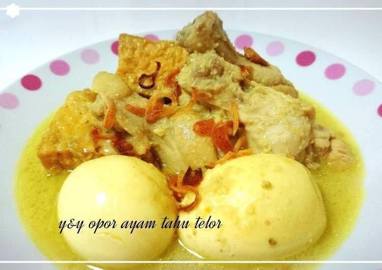 Resep Opor Ayam Tahu Telur Oleh Yny Resep Memasak Makanan Resep Makanan