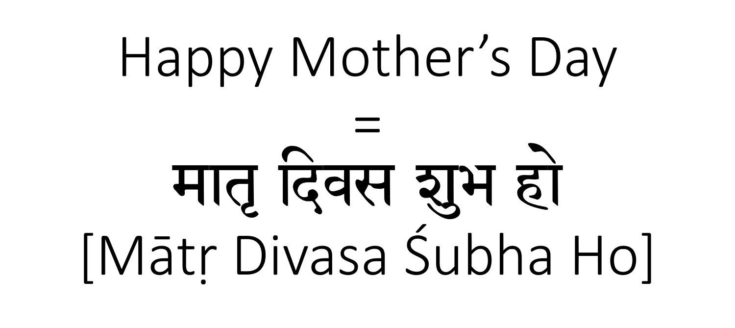 How to Say Happy Mother's Day in Hindi | English to Hindi