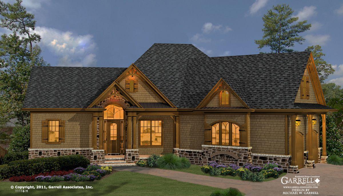 Westbrooks 11116 H House Plan Craftsman Style House