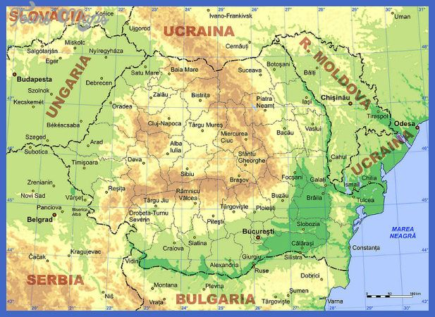 Nice Romania Map Tourist Attractions Tours Maps Romania Map Map