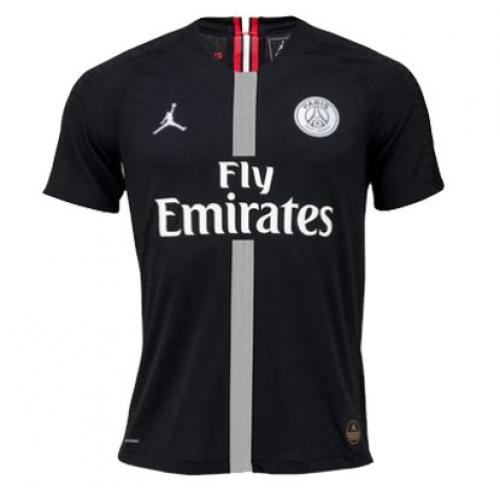 d1cbea76b30 18-19 PSG JORDAN 3rd Away Black Soccer Jersey Shirt(Player Version ...