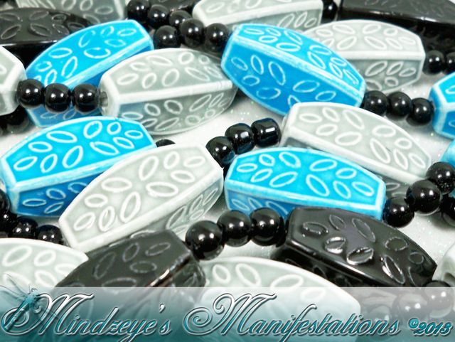 Porcelain 4-Sided Barrel Beads 30x14mm . Starting at $5 on Tophatter.com!