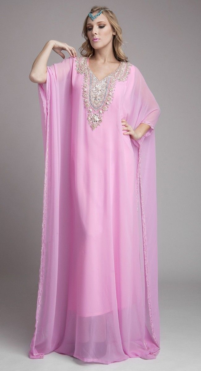 8fbca75081 Beautiful Lavender Color Long Sleeve Kaftan | Caftans | Dresses ...