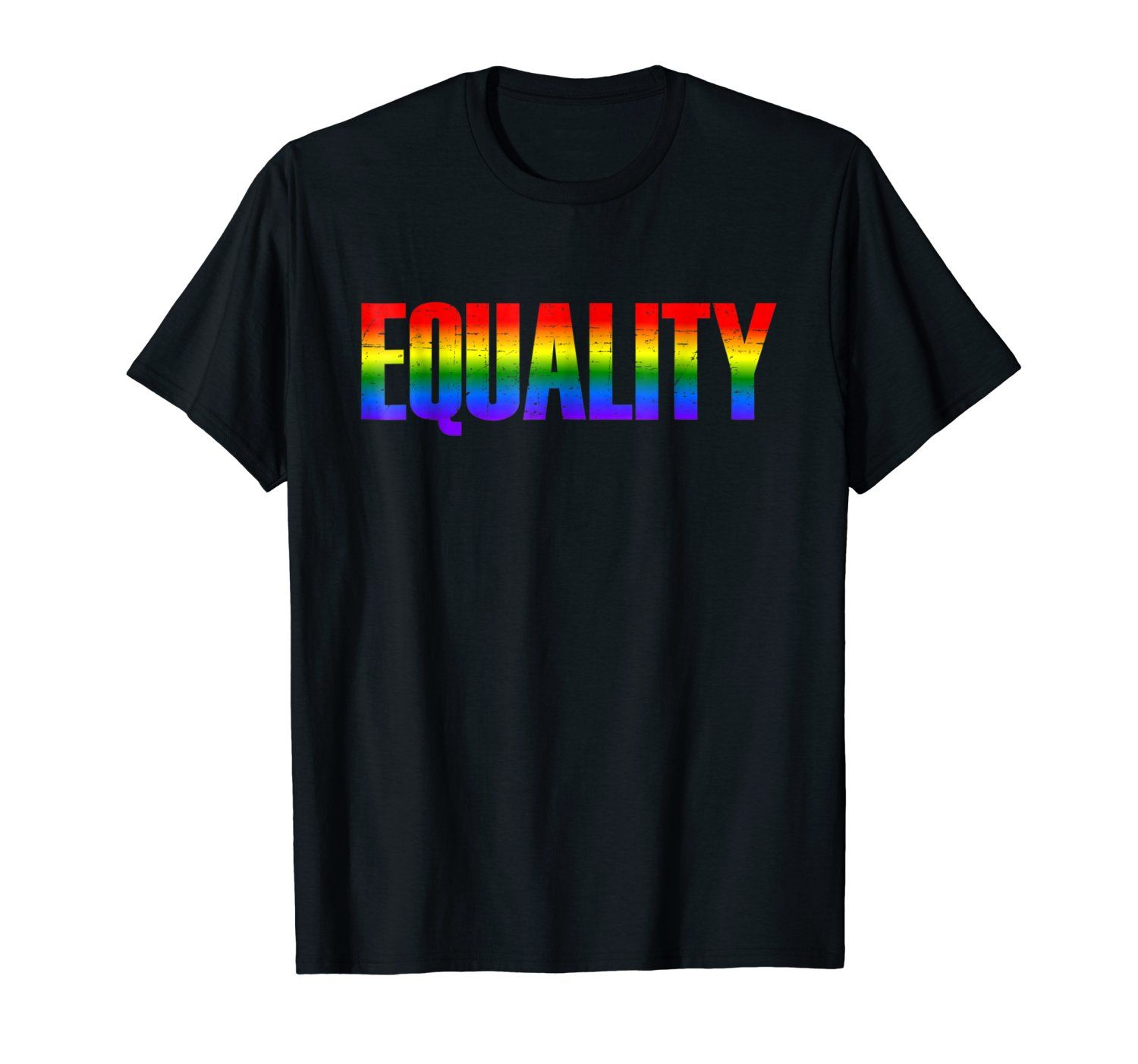 Equality Rainbow Vintage Flag Shirt Lesbian Gay Pride Parade Rights  Bisexual Transgender Transsexual gifts Tee with