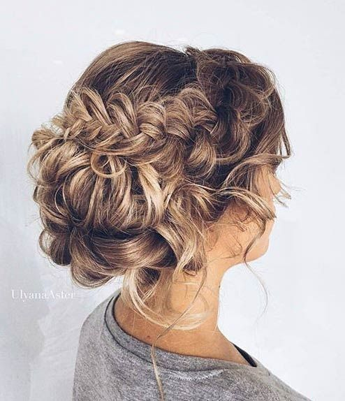 Messy Braided Updo for Prom | Hair - Upstyles | Pinterest ...