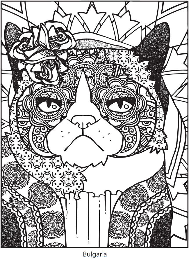 Welcome To Dover Publications Ch Grumpy Cat Vs The World Cat Coloring Page Cat Coloring Book Animal Coloring Pages