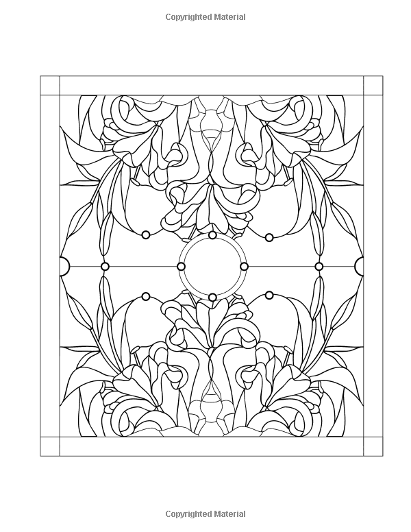 Stained Glass Windows 50 Mind Calming And Stress Relieving Patterns Coloring Books For Adults