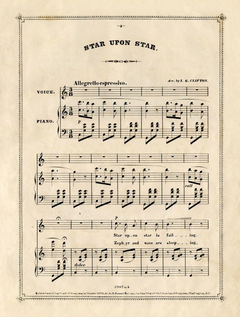 Free Vintage Sheet Music Vintage sheet music, Sheet