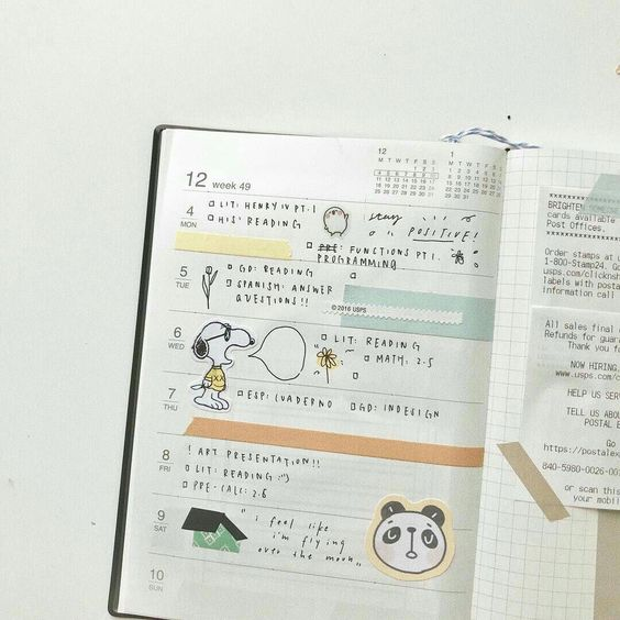 Bullet Journal Aesthetic Spreads   2020 Calendar Printable Template