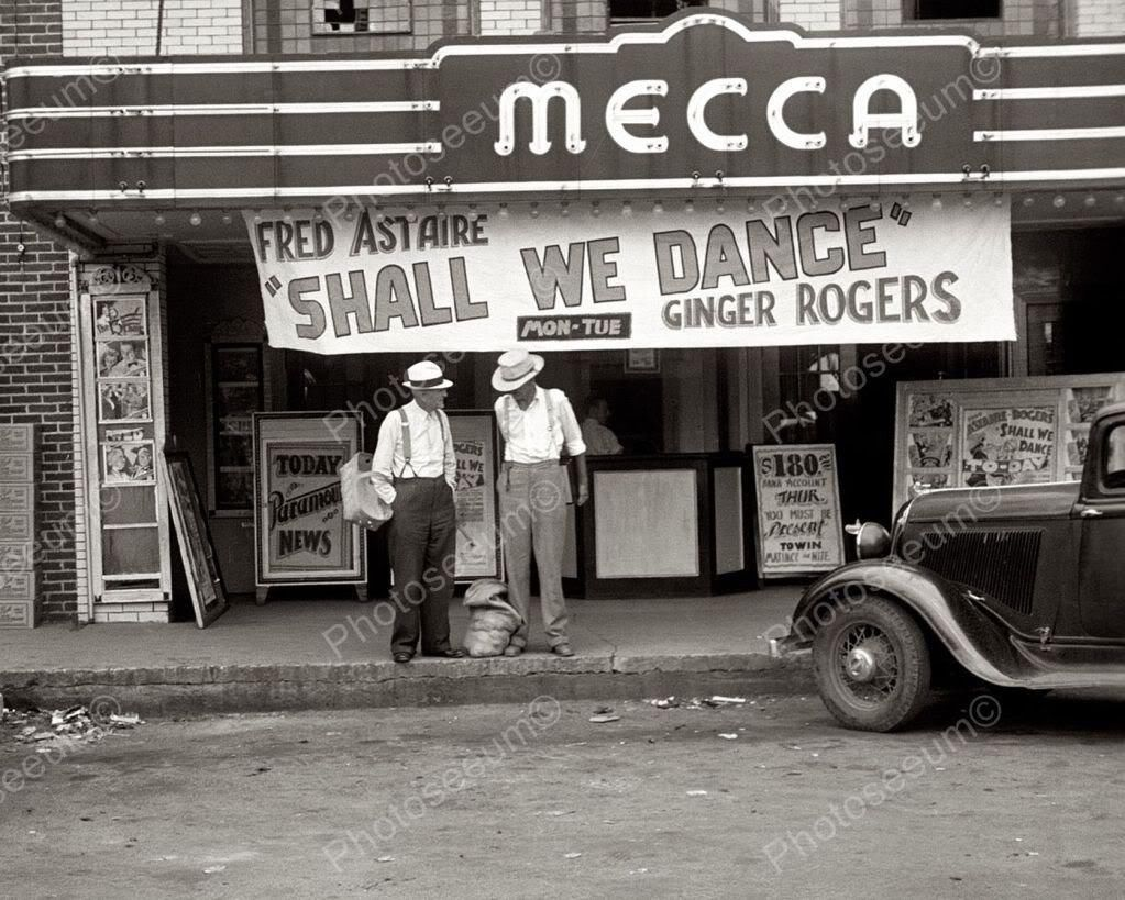 Mecca movie theatre tennessee 1930s 8x10 reprint of old