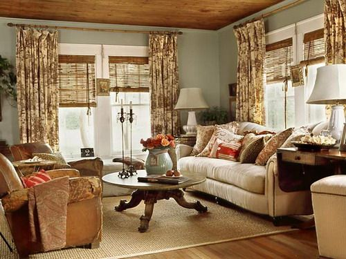 French Country Cottage Living Room Style Interior Decorating Ideas The Different