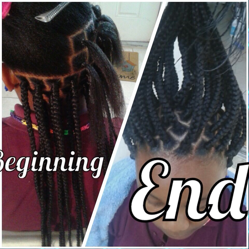 Rubber Bands Box Braids Hair Styles Hair Styles