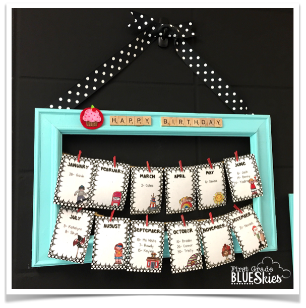 Diy Calendar Bulletin Board : Using a frame from second hand store to create