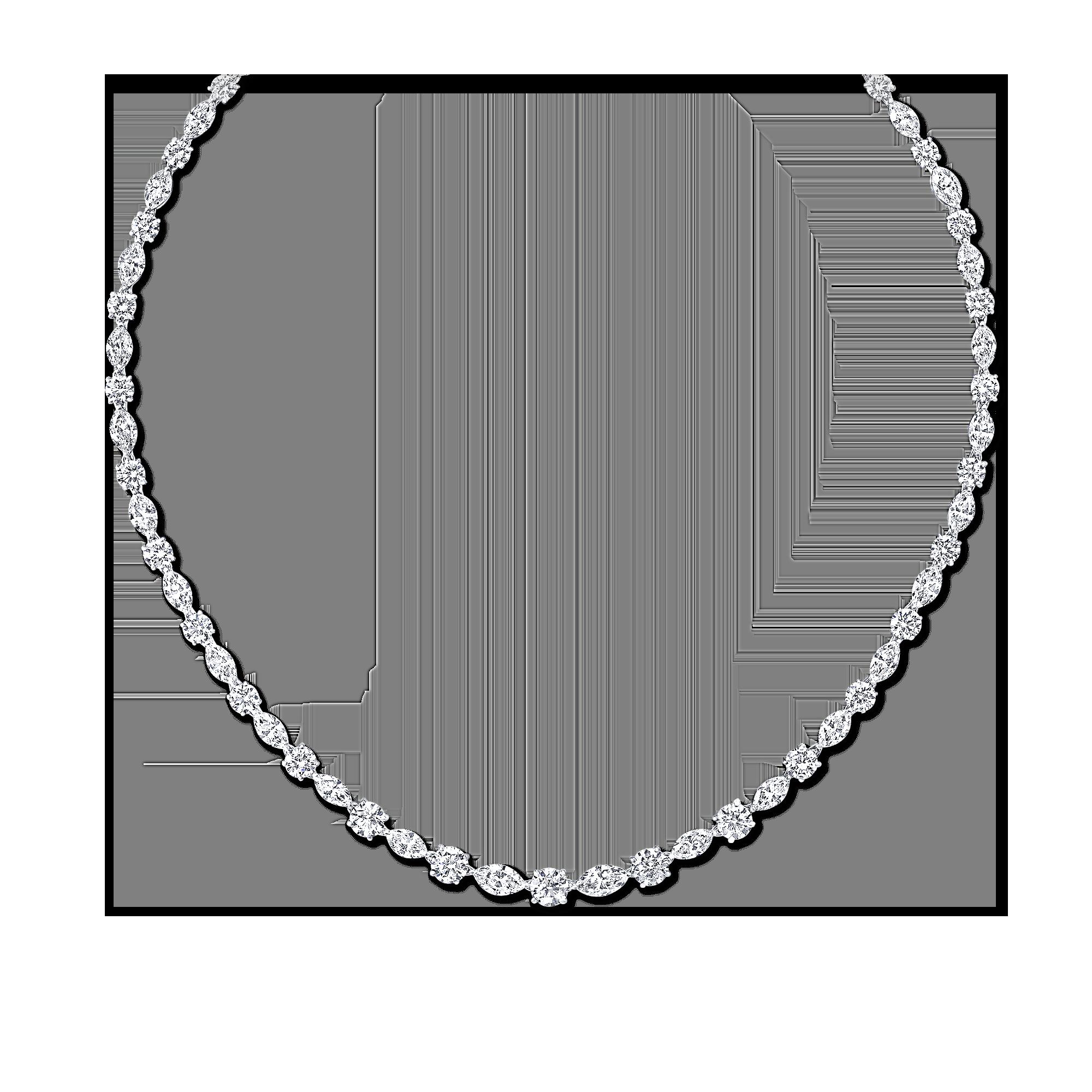 Multishape Diamond Necklace in 2020 Diamond, Fringe