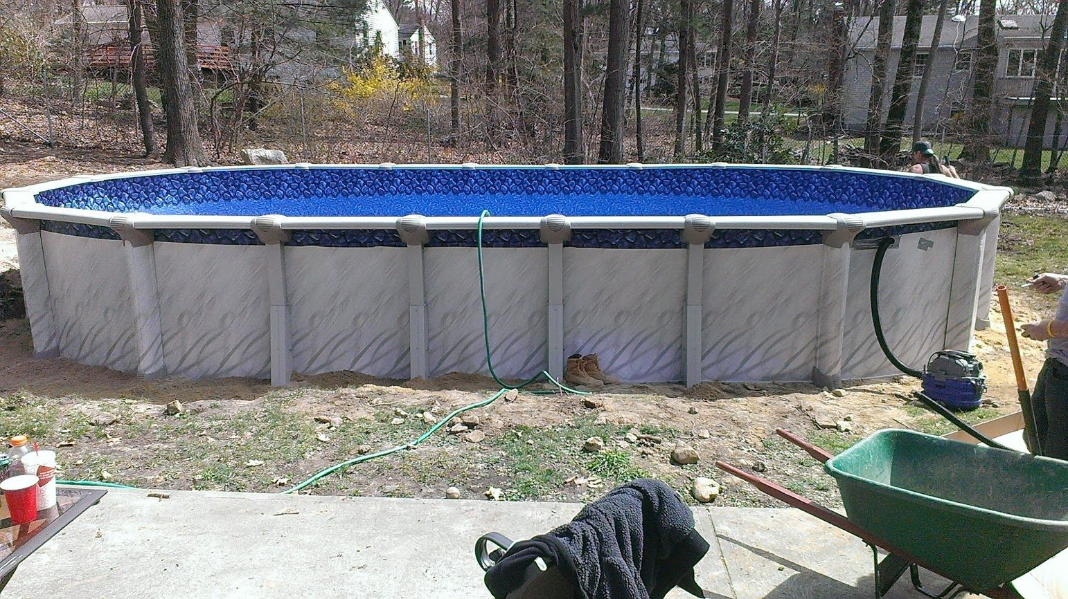 Meadows 15x30 in foxboro ma http www - Above ground swimming pools installation ...