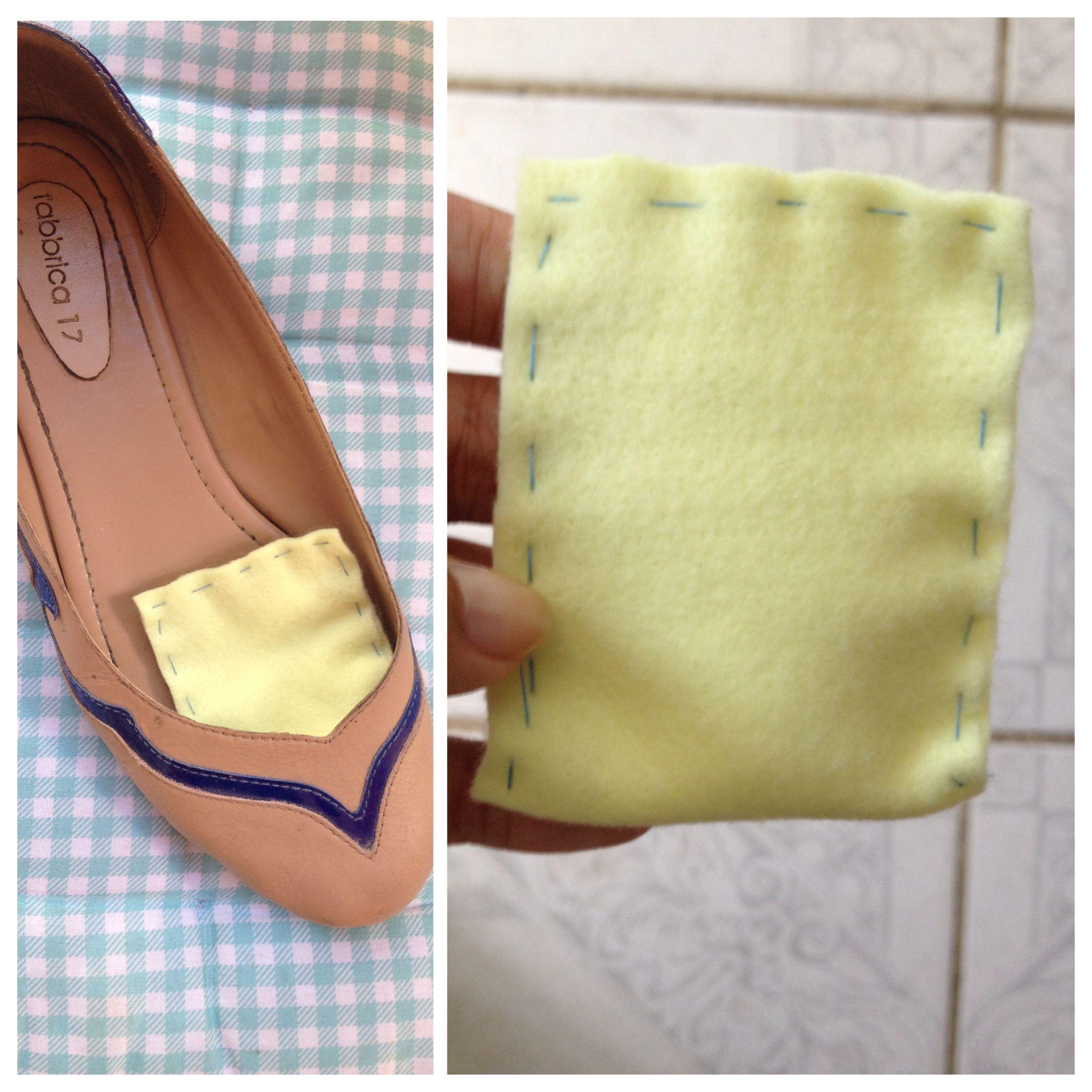 a2a5a73c1 Fazer saquinhos com bicarbonato de sódio reduz mal cheiro em sapatos! ^^