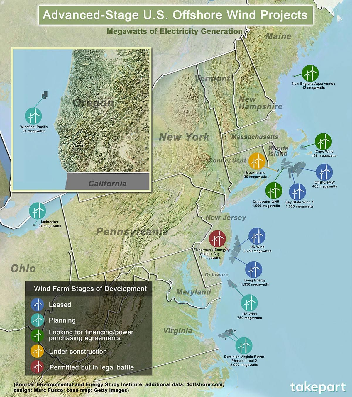 Largest Us Offshore Wind Farms Earth People Mars Offshore Wind - Map-of-us-wind-farms