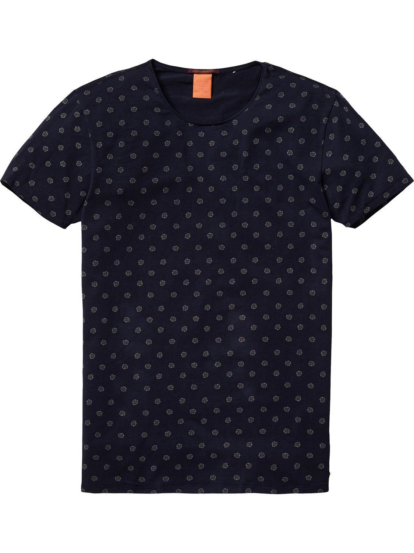 Scotch /& Soda Crew Neck Logo tee Camiseta para Hombre