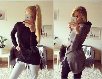 Bluza Tunika Dres Kieszen Kaptur Dluzszy Tyl 829 6404989845 Oficjalne Archiwum Allegro Mirror Selfie Selfie
