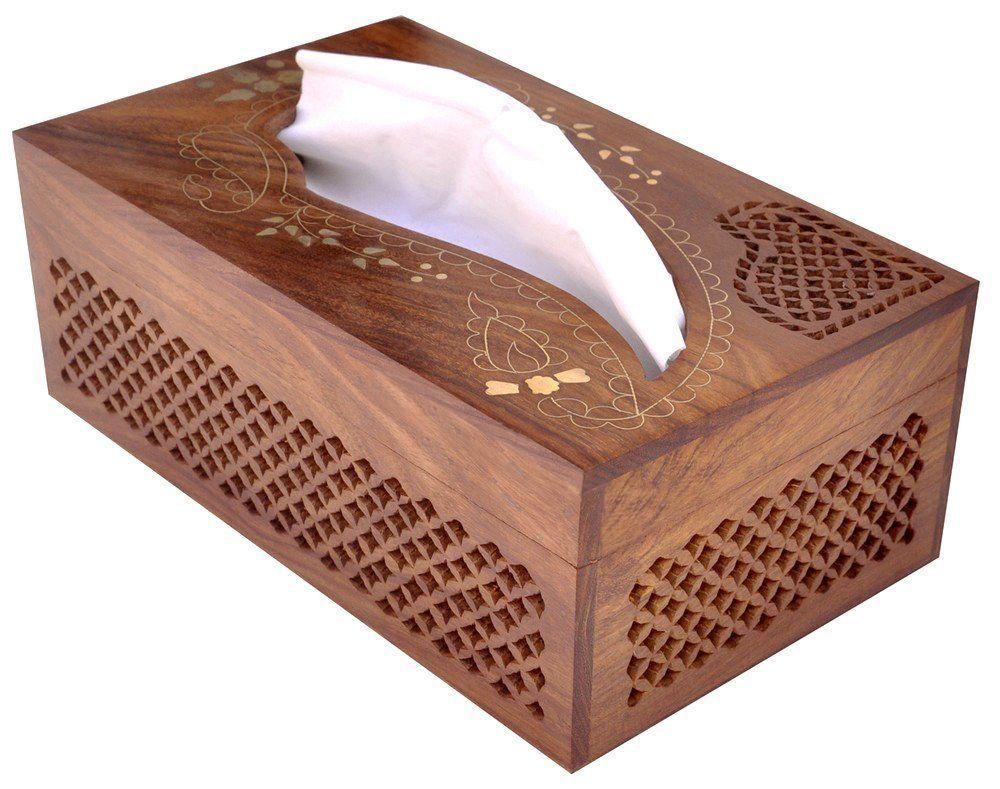 Decorative Tissue Box Holder Rectangular #wooden #tissue #box Cover Dispenser With Decorative
