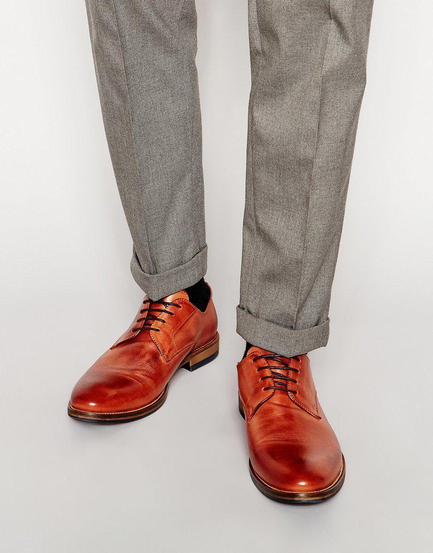 Chaussures par Dune Cuir mat Laçage sur le devant Bout rond Semelle robuste  et lisse Traiter e9b839a0738