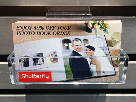 Shutterfly Slatwall Business Card Holder Main