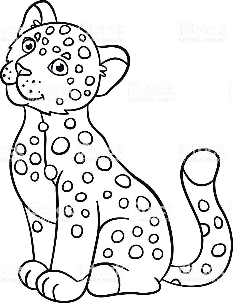 Cute Baby Coloring Pages Coloring Pages Little Cute Baby Jaguar Smiles Stock Animal Coloring Pages Stitch Coloring Pages Penguin Coloring Pages