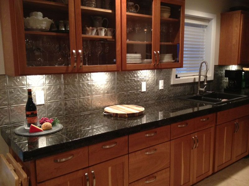 Metal Kitchen Backsplash Ideas Kitchen Pinterest