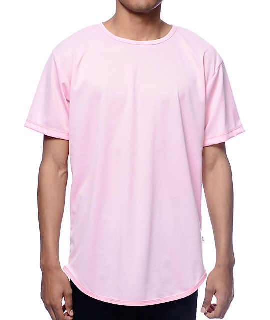 EPTM. Dimpled Mesh Pink Long T Shirt in 2019 | my style