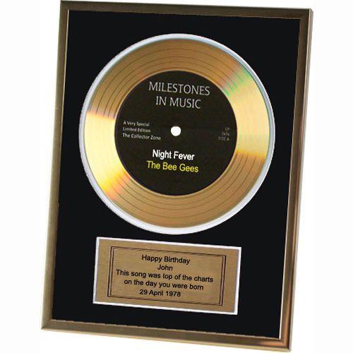 details zu goldene schallplatte gerahmt personalisiert geburtstag 18 21 40 50 60 geschenk ebay