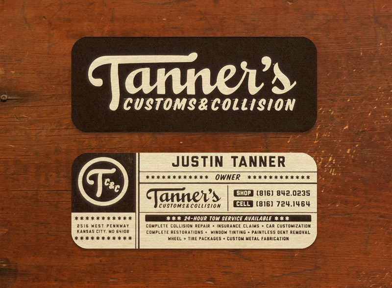 Tanner S Customs Business Cards Tarjetas De Presentacion