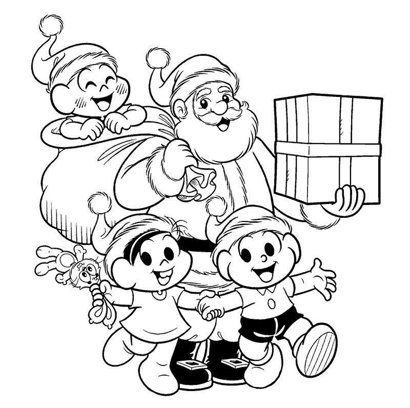 Turma Da Mônica E O Papai Noel Desenho De Papai Noel Para