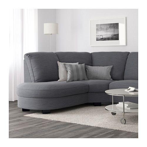 Tidafors Sectional 3 Seat Hensta Gray Ikea Corner Sofa