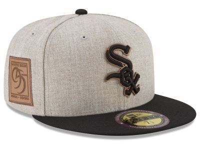 low priced 12221 8f696 Chicago White Sox New Era MLB Leather Ultimate Patch Collection 59FIFTY Cap