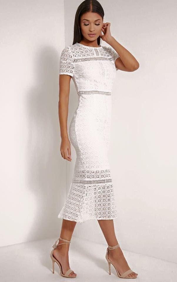 3ed2b7242204 Crochet Midi Dress, Lace Midi Dress, Midi Dresses, White Dress, Crochet  Fabric