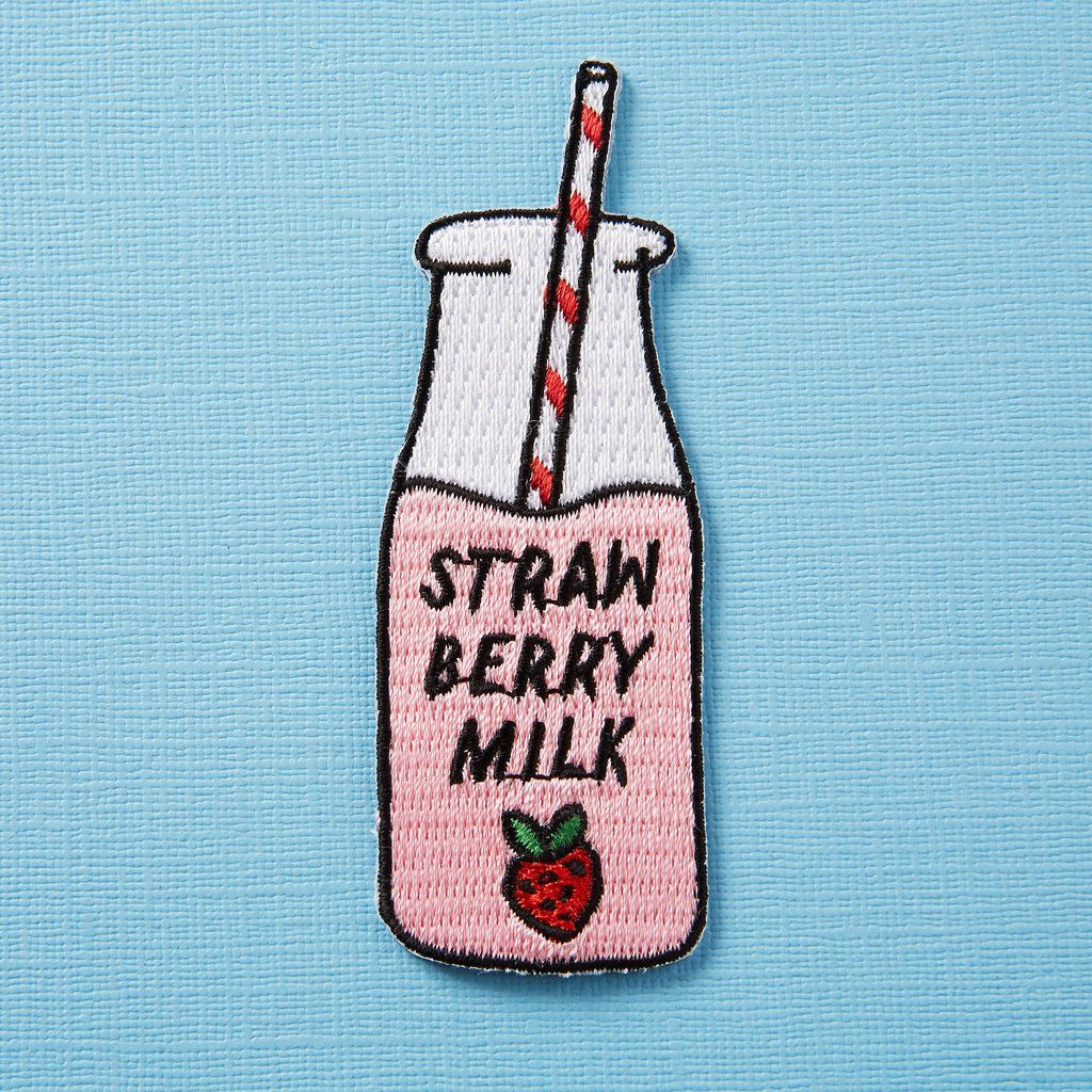 Strawberry embroidery patches sewing on applique iron on patch for.