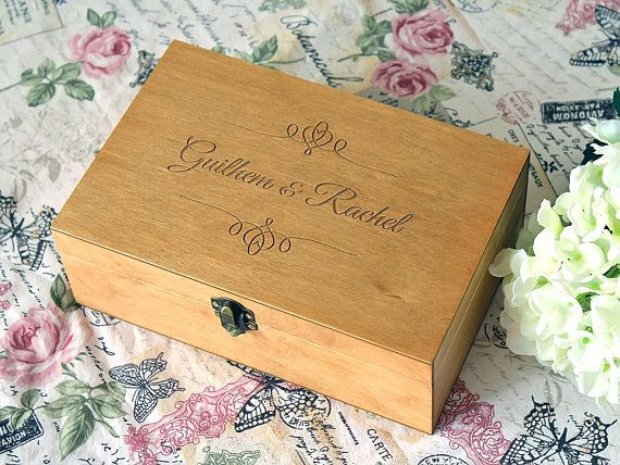 Wedding Gift Custom Jewelry Box Keepsake Memory Box Personalized Wooden Box Gift Box with Lid Custom Wooden Gift Box