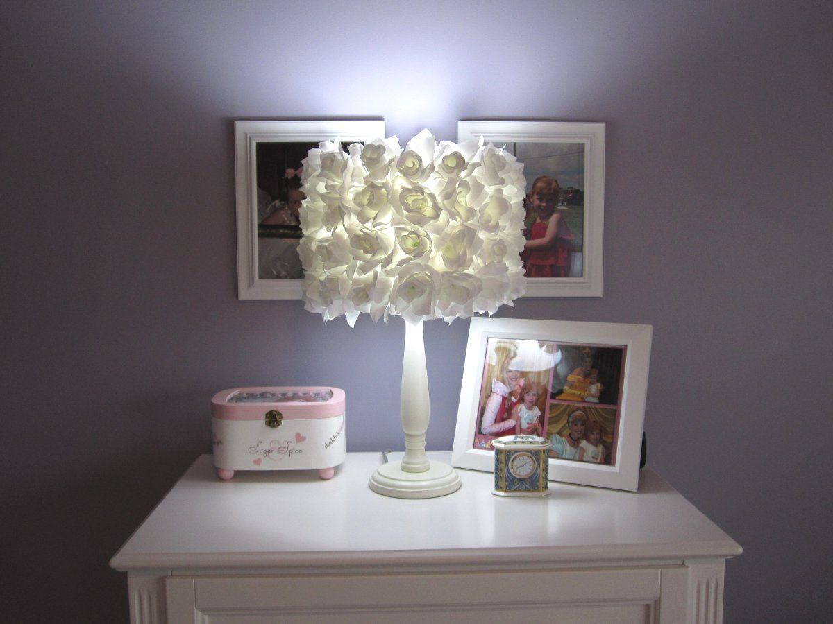 10 best handmade lamp shades images on pinterest lampshades white bloom flower lampshadelampshade aloadofball Choice Image