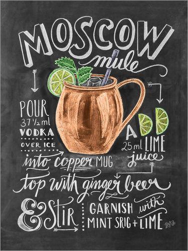 Premium-Poster Moscow Mule Rezept (Englisch) #kokteyltarifleri