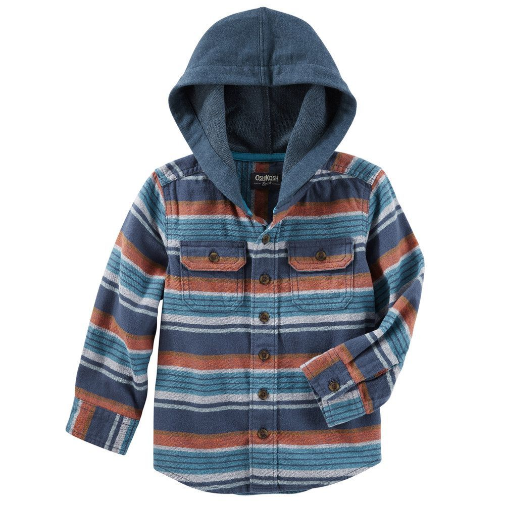 4efa3c16461e Boys 4-12 OshKosh B gosh® Flannel Plaid Hooded Shirt
