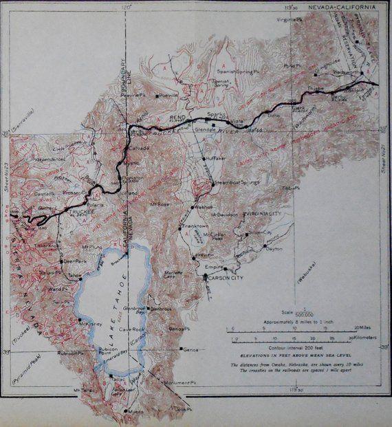 1915 Truckee & Lake Tahoe Antique Railroad Map California to ... on amarillo california map, las cruces california map, ogden california map, fort worth california map, fort carson map, henderson california map, fond du lac county plat map, vasco road livermore map, zip code in carson california map, monterey pass battle map, tonopah california map, north park mall store map, city of brea california map, city of reno california map, city of gardena zoning map, susanville street map, boise california map, lahabra map, bridger city utah map, dublin ca zoning map,