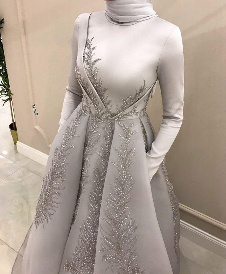 Winter Night Clothing Stylish Party Dresses Soiree Dress Muslim Fashion Dress