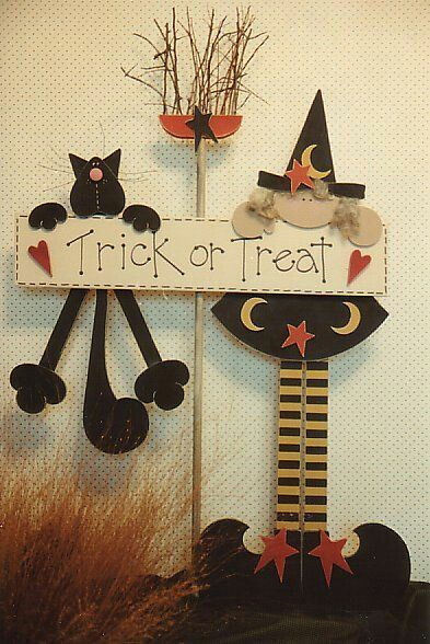 Adornos de madera DIY para Halloween - Blog de Hog