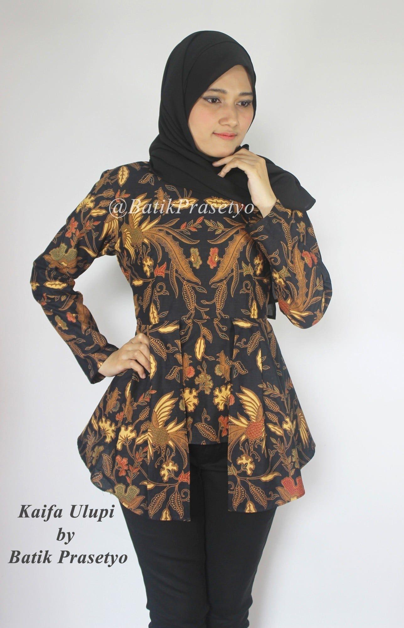 Model Baju Batik Wanita Remaja Terbaru : model, batik, wanita, remaja, terbaru, Model, Kebaya, Batik, Lengan, Panjang, Pakaian, Guru,, Kerja,