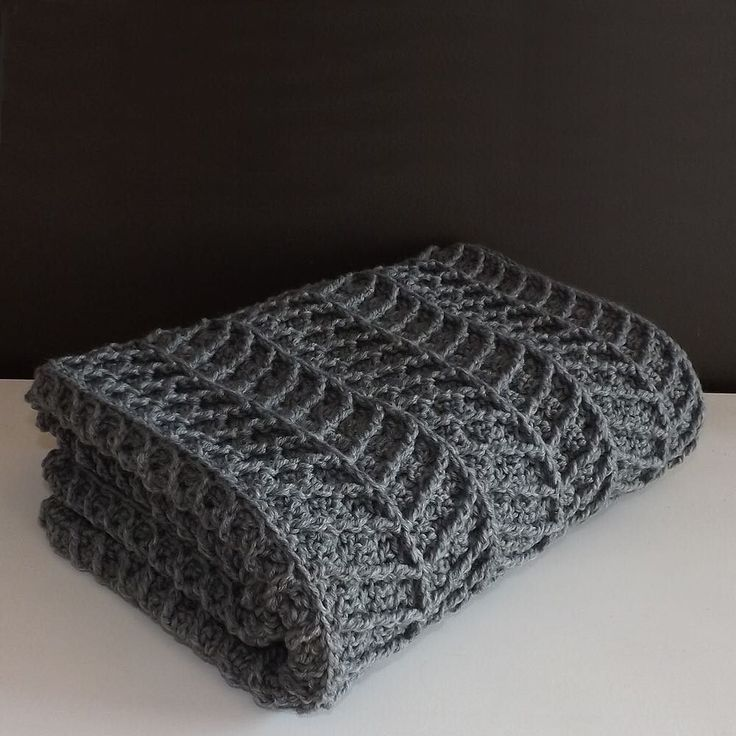 With Clean Lines And A Thick Cozy Feel This Modern Crochet Blanket