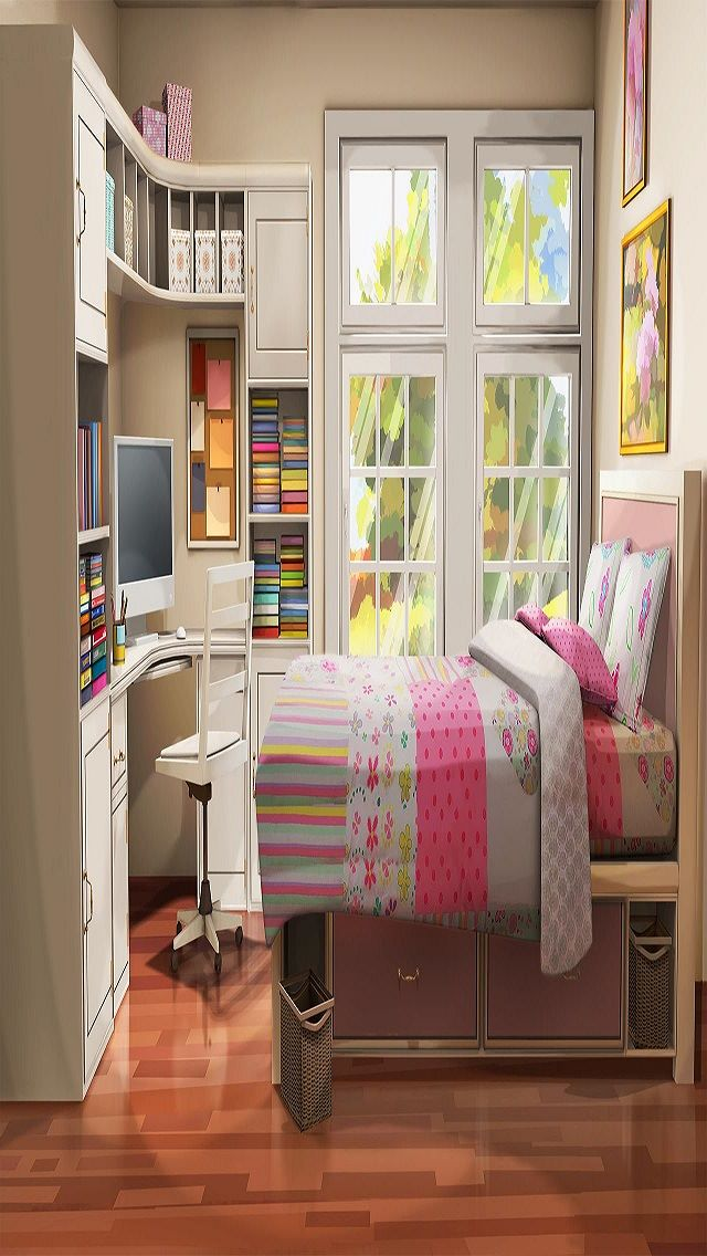 Int teen sisters bedroom day small episodeinteractive for Living room 640x1136