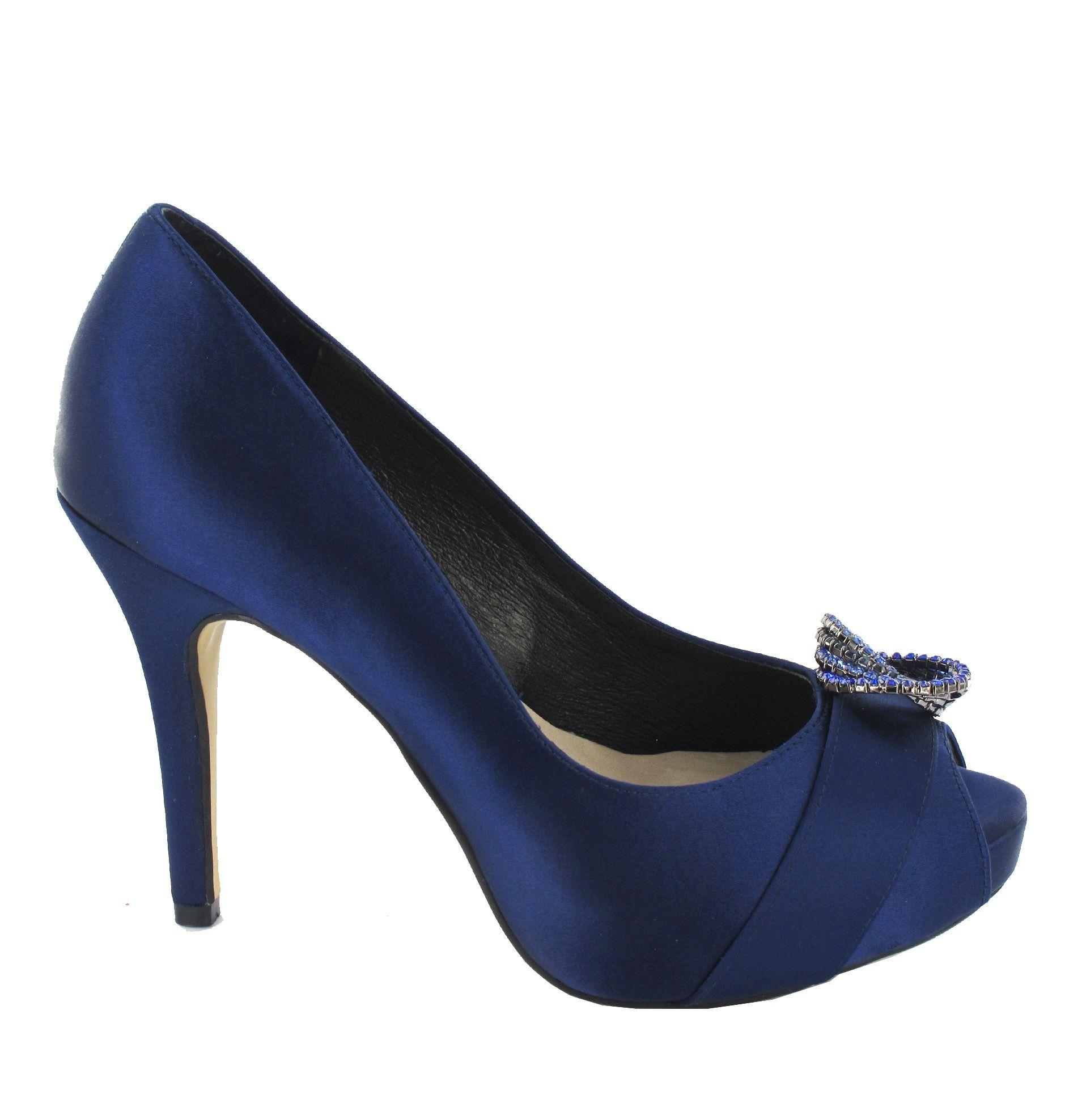 e845a85f30 Zapato peep toe de tacón alto y plataforma