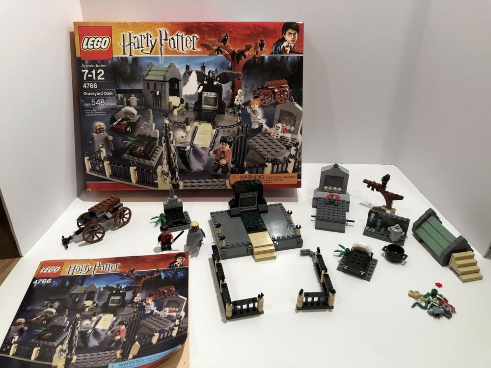 Lego Harry Potter Graveyard Duel 4766 Box And Instructions