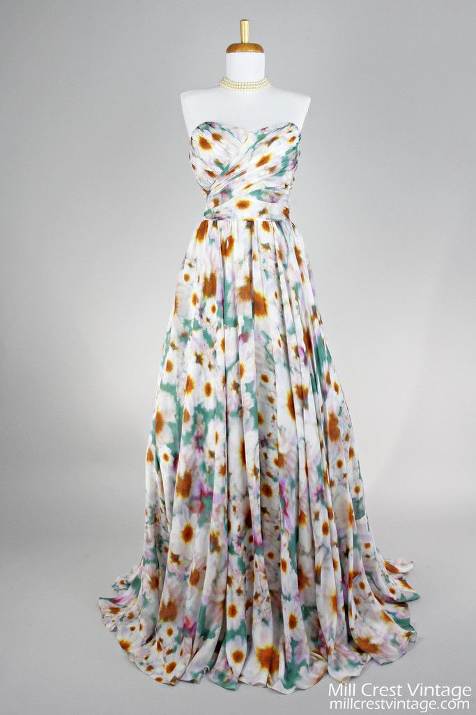 1970 Badgley Mischka Vintage Evening Gown , Vintage Evening Gowns ...