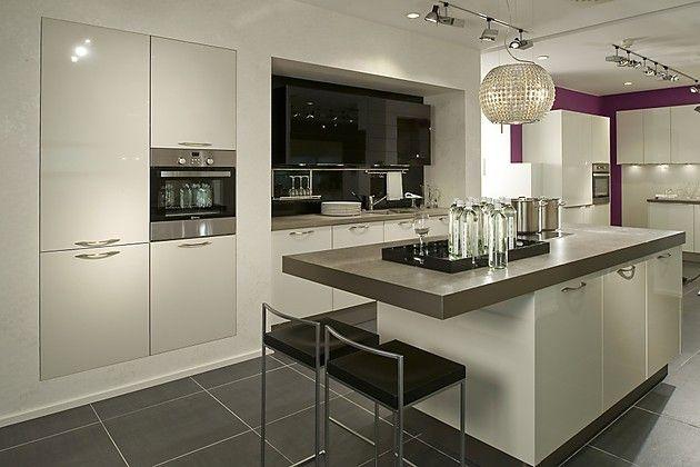 inselküche mit theke | home design_kitchen/ living room | pinterest, Hause ideen